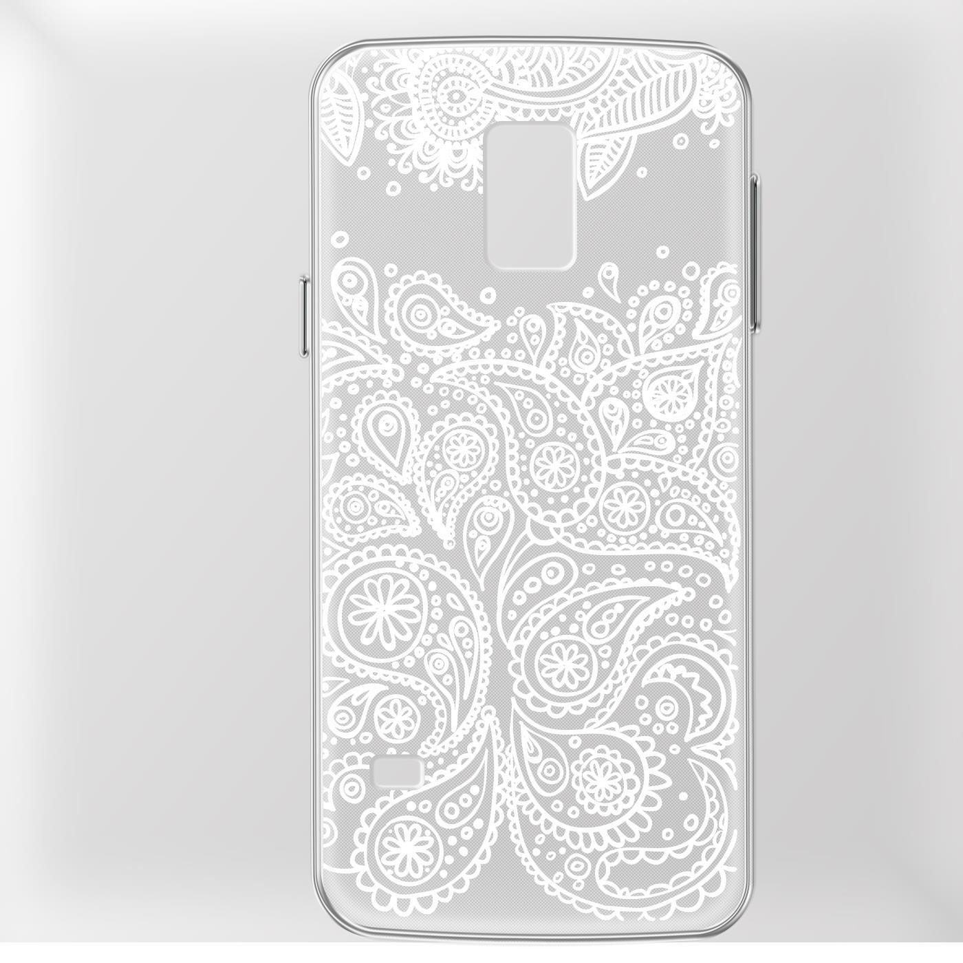 Samsung Galaxy S5 Neo Handy Schutz Hülle Case TPU Silikon Cover Tasche Mandala