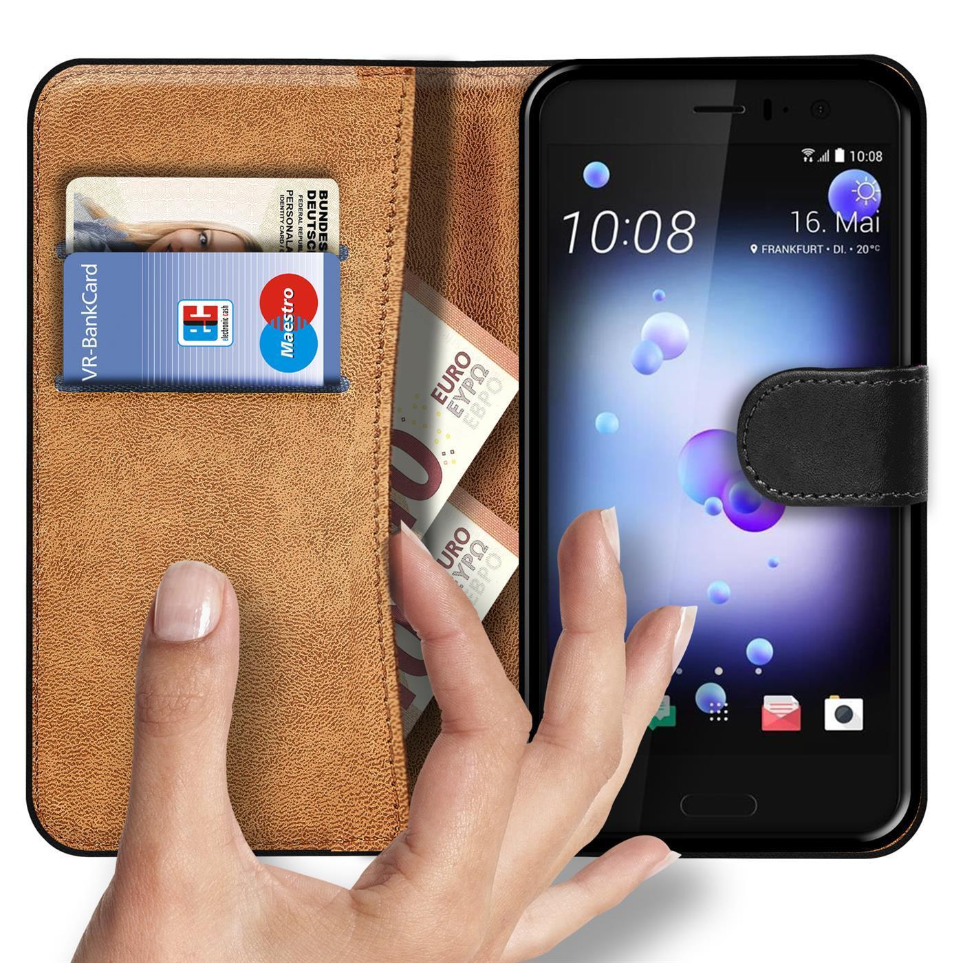 Handy-Klapp-Tasche-HTC-U11-Life-Schutz-Huelle-Flip-Cover-Book-Case-Schutzhuelle
