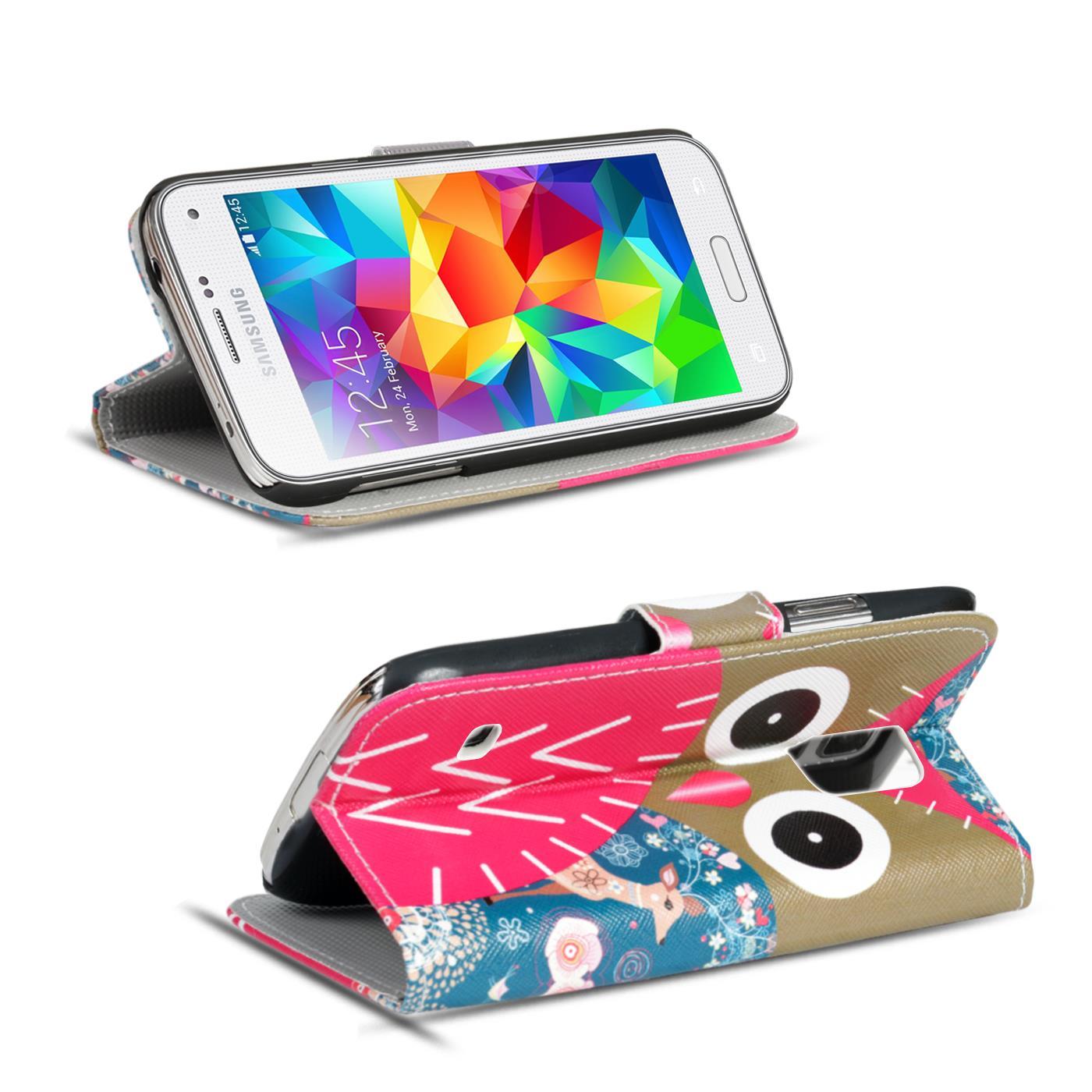 handy h lle samsung galaxy s5 mini flip cover case schutz. Black Bedroom Furniture Sets. Home Design Ideas