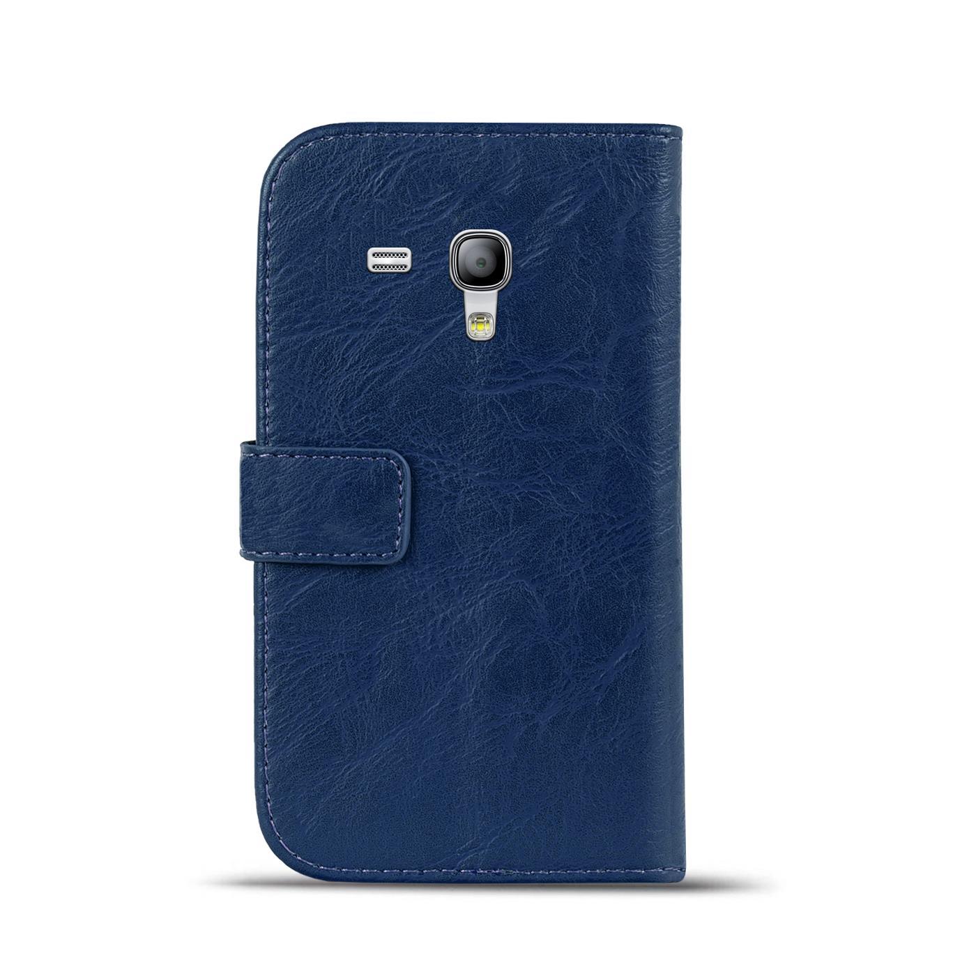 Klapphuelle-Samsung-Galaxy-S3-Mini-Huelle-Schutzhuelle-Wallet-Cover-Flip-Case Indexbild 7