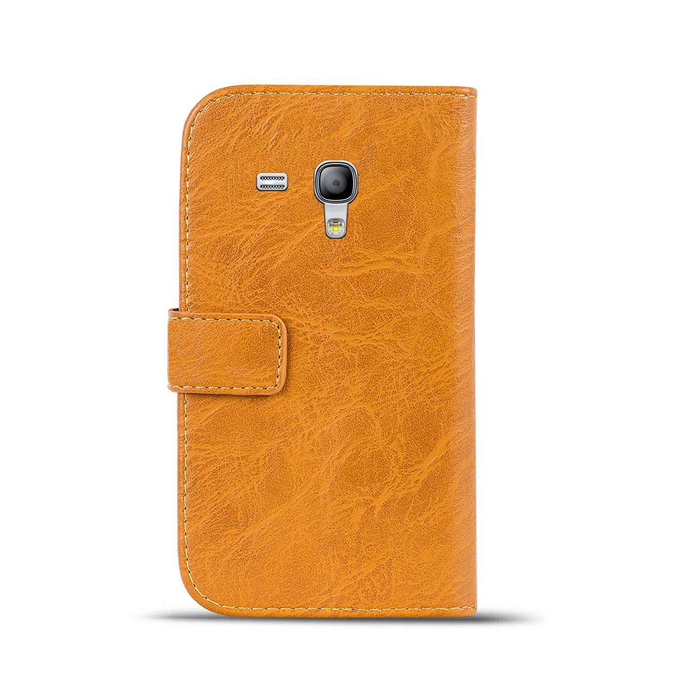 Klapphuelle-Samsung-Galaxy-S3-Mini-Huelle-Schutzhuelle-Wallet-Cover-Flip-Case Indexbild 10