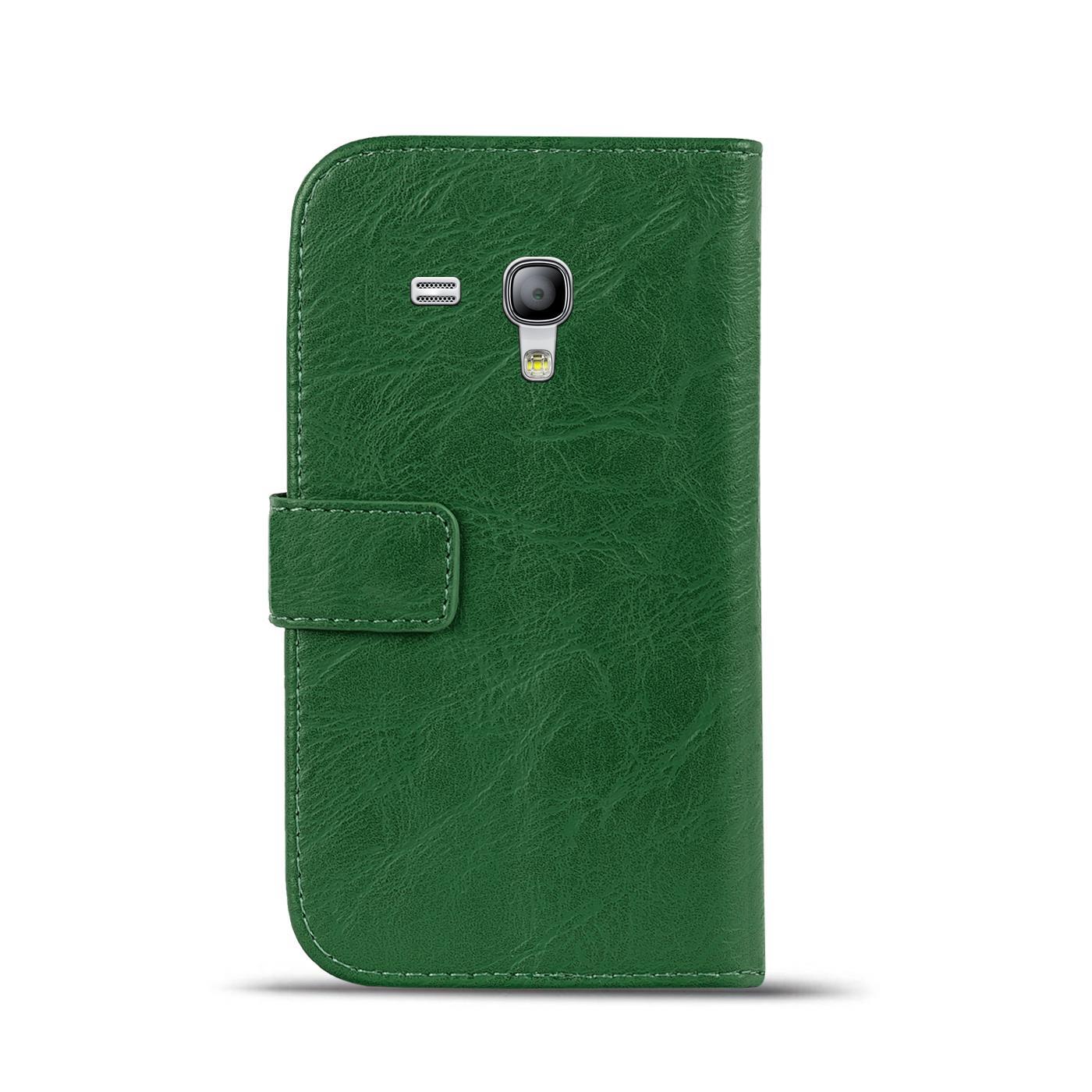 Klapphuelle-Samsung-Galaxy-S3-Mini-Huelle-Schutzhuelle-Wallet-Cover-Flip-Case Indexbild 13