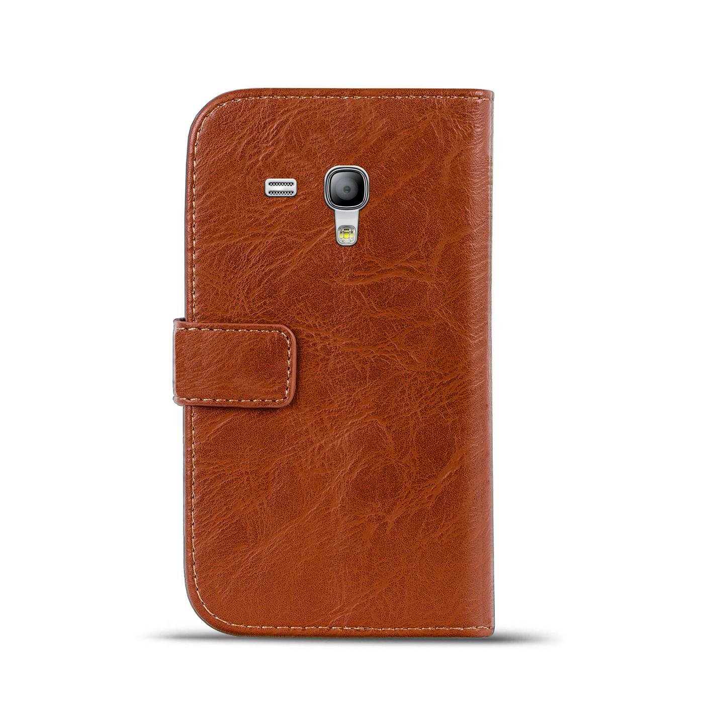 Klapphuelle-Samsung-Galaxy-S3-Mini-Huelle-Schutzhuelle-Wallet-Cover-Flip-Case Indexbild 16