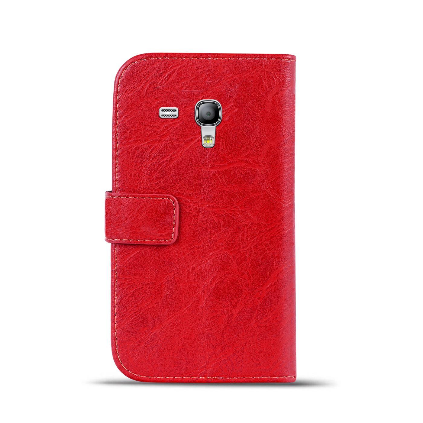 Klapphuelle-Samsung-Galaxy-S3-Mini-Huelle-Schutzhuelle-Wallet-Cover-Flip-Case Indexbild 22