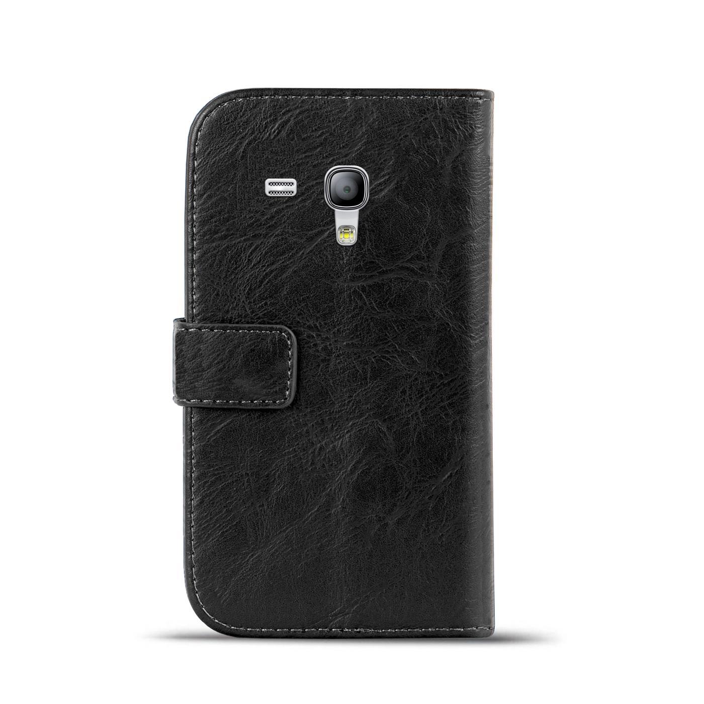 Klapphuelle-Samsung-Galaxy-S3-Mini-Huelle-Schutzhuelle-Wallet-Cover-Flip-Case Indexbild 25