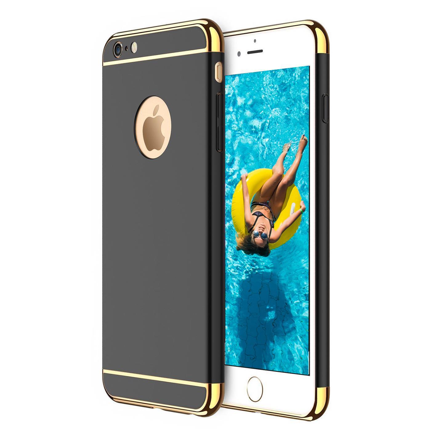 apple iphone 6 6s hybrid cover h lle hardcase handyh lle tasche gold etui case ebay. Black Bedroom Furniture Sets. Home Design Ideas