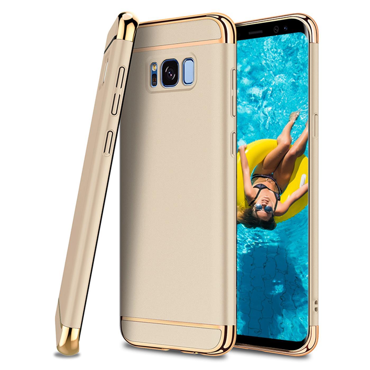 Samsung Galaxy A5 2017 Hybrid Cover Hlle Hardcase Handyhlle Tasche Gold Huelle