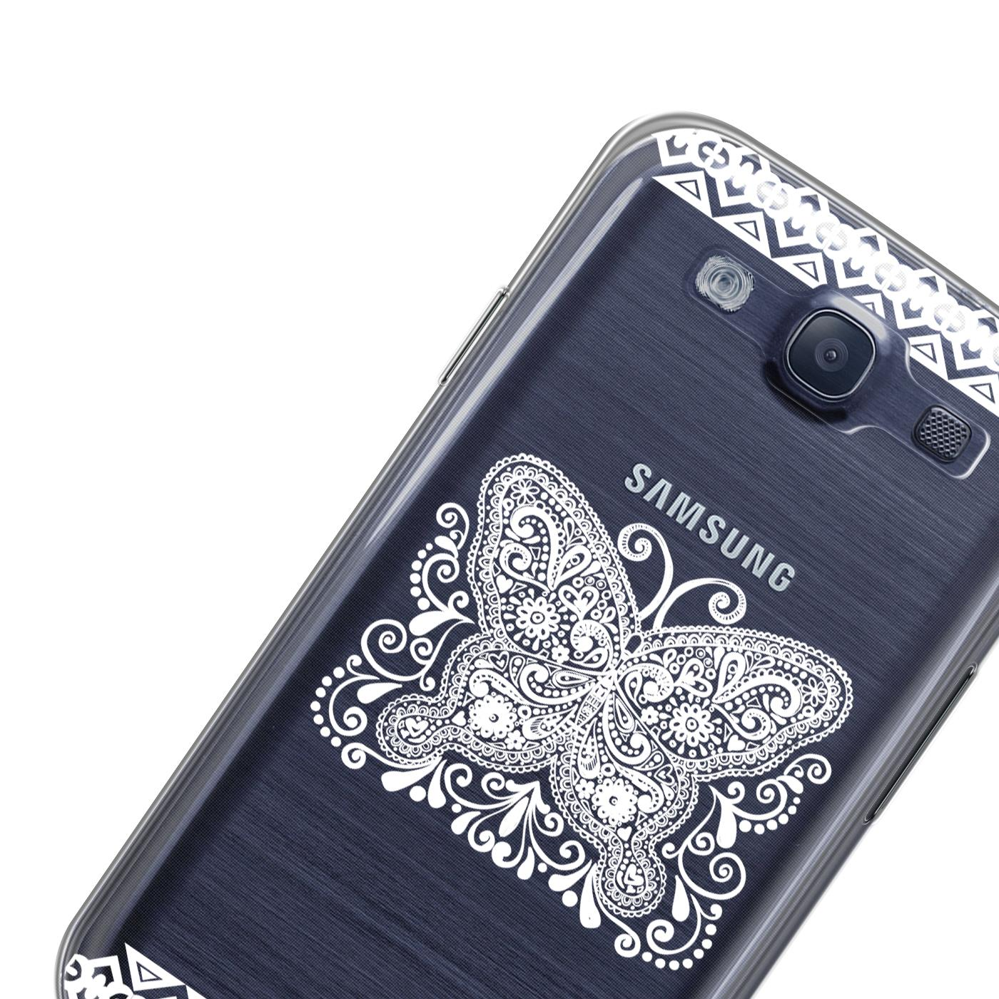 Samsung-Galaxy-S3-Neo-Handy-Schutz-Huelle-Case-TPU-Silikon-Cover-Tasche-Mandala Indexbild 6