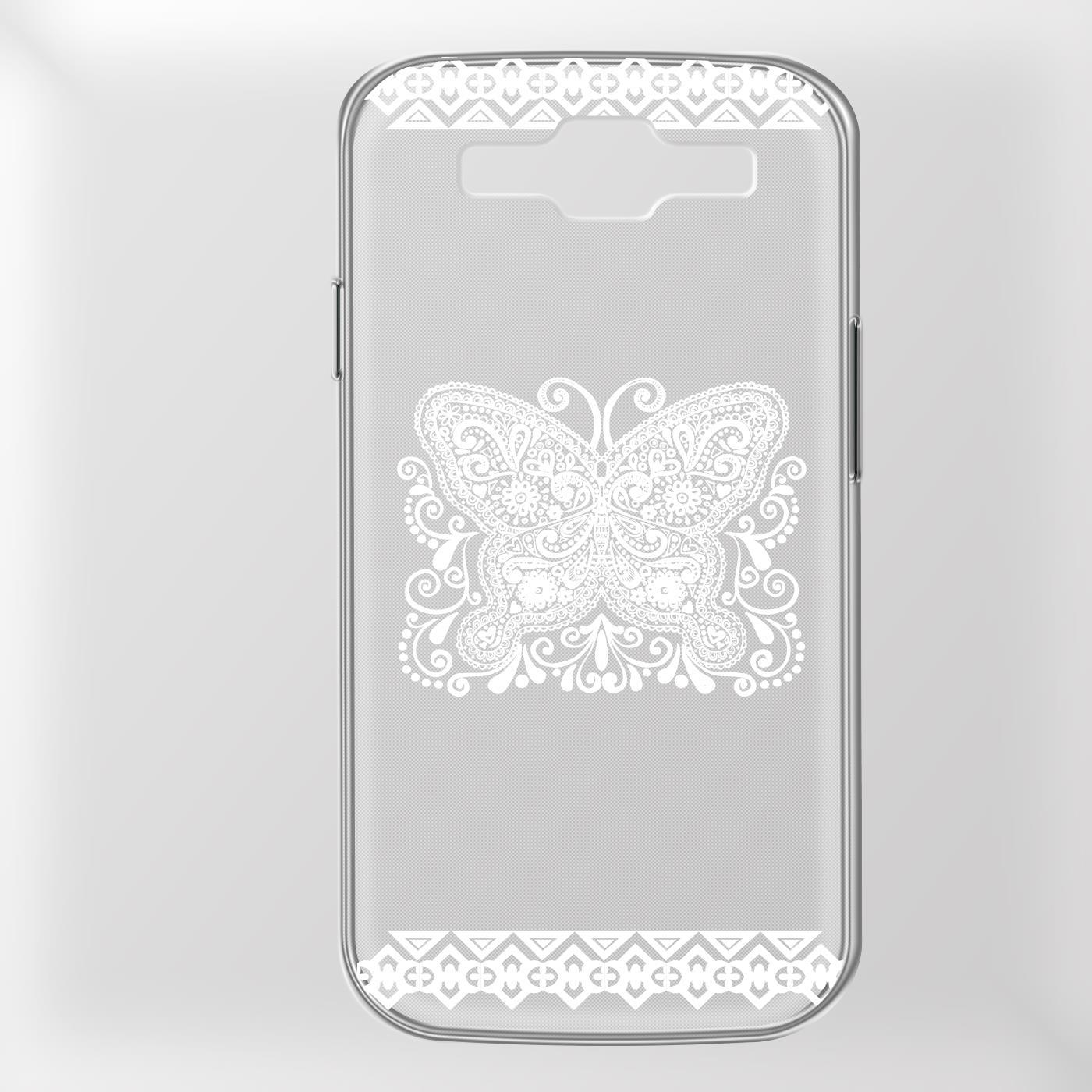 Samsung-Galaxy-S3-Neo-Handy-Schutz-Huelle-Case-TPU-Silikon-Cover-Tasche-Mandala Indexbild 7