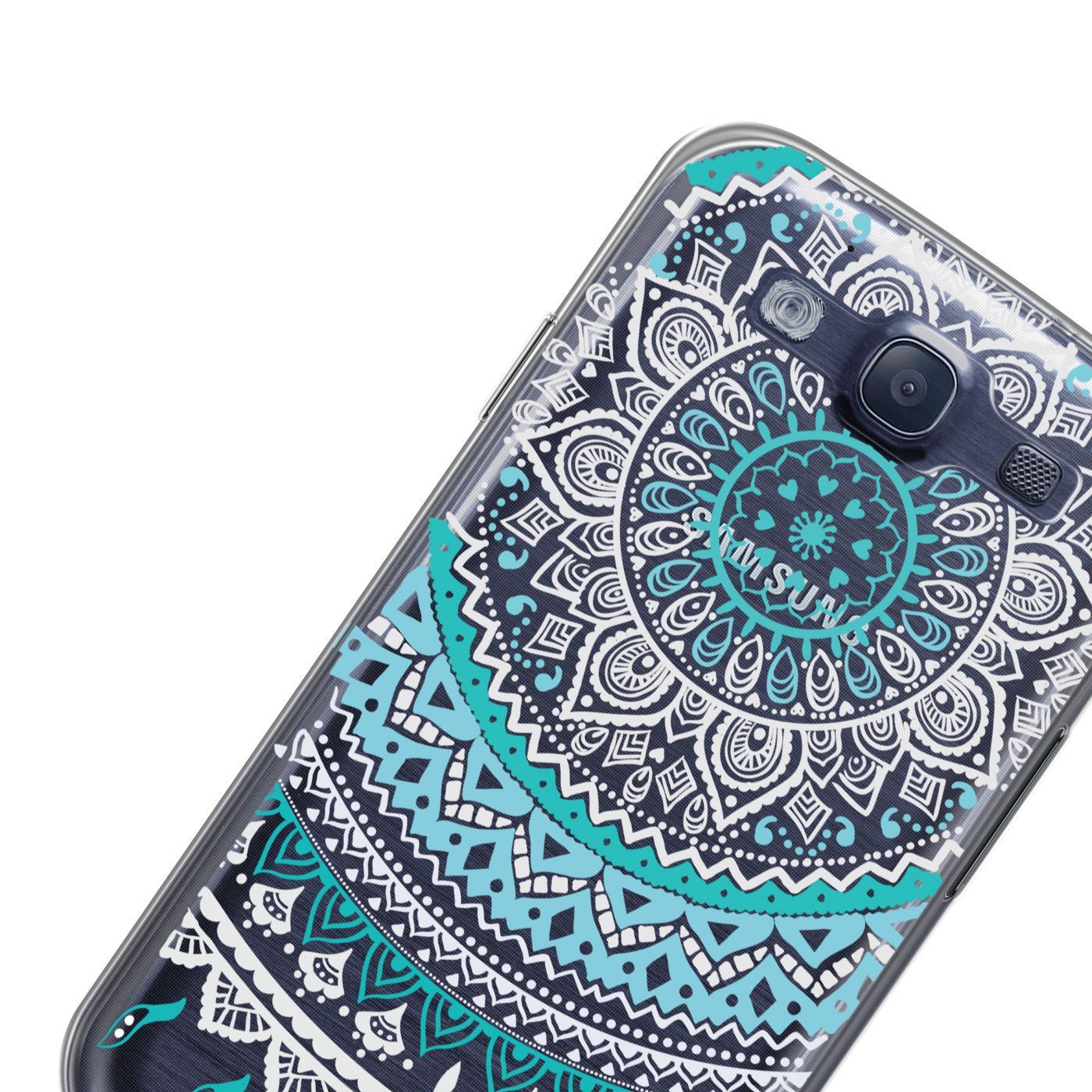 Samsung-Galaxy-S3-Neo-Handy-Schutz-Huelle-Case-TPU-Silikon-Cover-Tasche-Mandala Indexbild 9