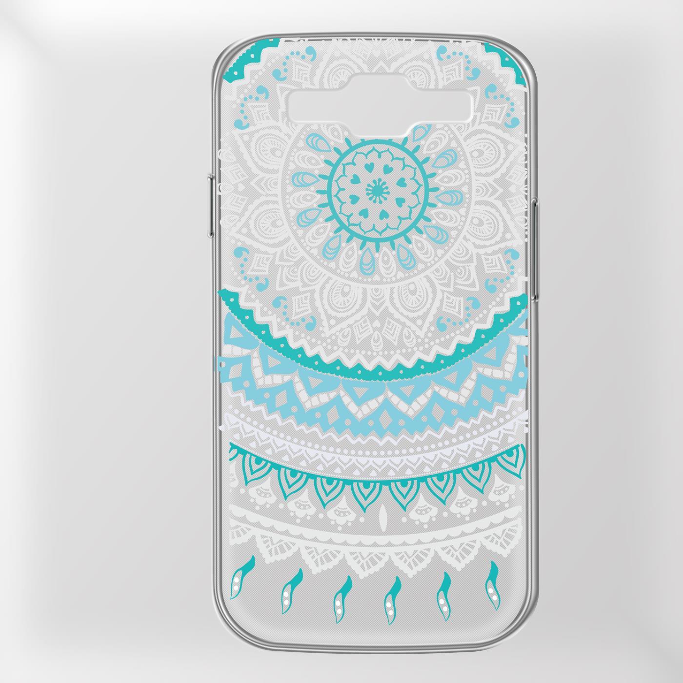 Samsung-Galaxy-S3-Neo-Handy-Schutz-Huelle-Case-TPU-Silikon-Cover-Tasche-Mandala Indexbild 10