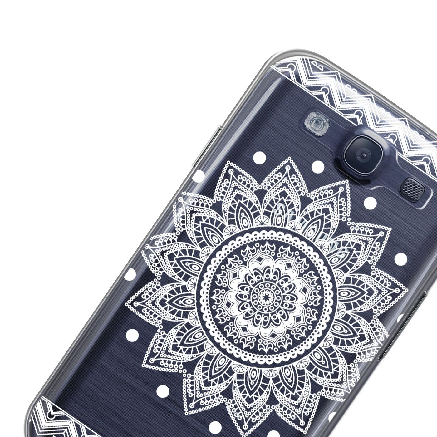 Samsung-Galaxy-S3-Neo-Handy-Schutz-Huelle-Case-TPU-Silikon-Cover-Tasche-Mandala Indexbild 12