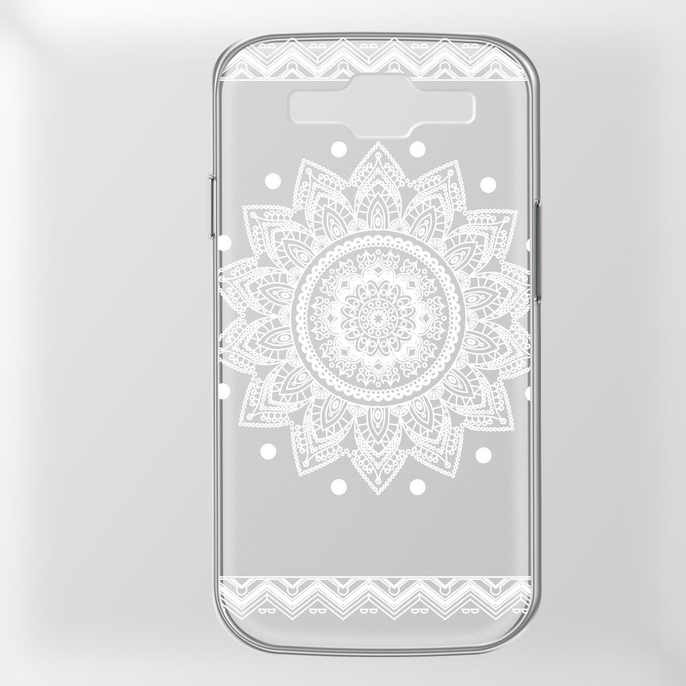 Samsung-Galaxy-S3-Neo-Handy-Schutz-Huelle-Case-TPU-Silikon-Cover-Tasche-Mandala Indexbild 13