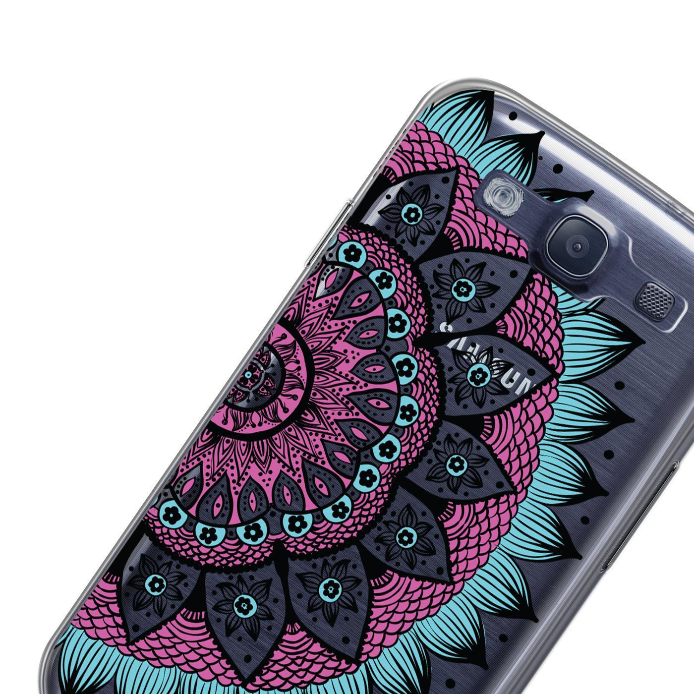 Samsung-Galaxy-S3-Neo-Handy-Schutz-Huelle-Case-TPU-Silikon-Cover-Tasche-Mandala Indexbild 15