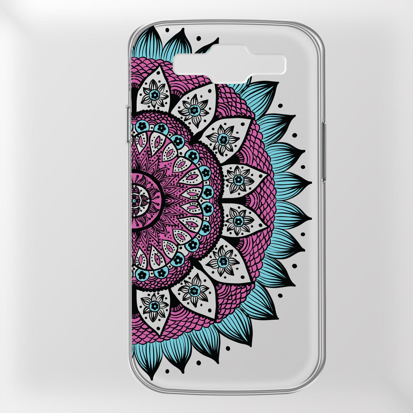 Samsung-Galaxy-S3-Neo-Handy-Schutz-Huelle-Case-TPU-Silikon-Cover-Tasche-Mandala Indexbild 16
