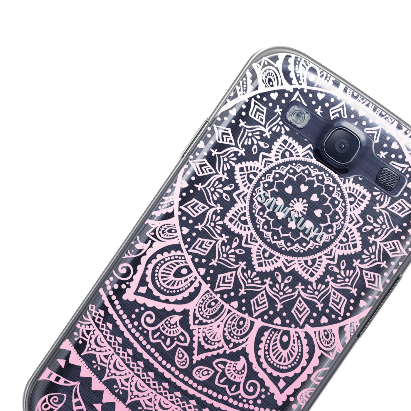 Samsung-Galaxy-S3-Neo-Handy-Schutz-Huelle-Case-TPU-Silikon-Cover-Tasche-Mandala Indexbild 18