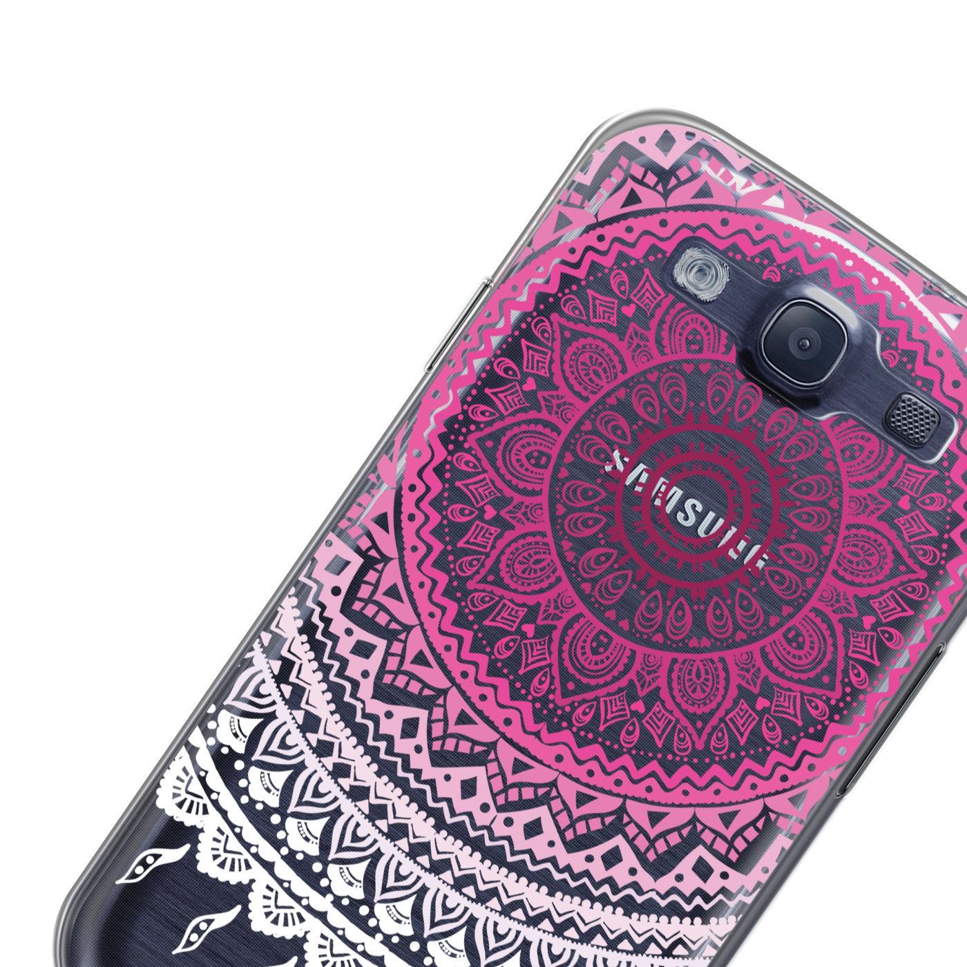 Samsung-Galaxy-S3-Neo-Handy-Schutz-Huelle-Case-TPU-Silikon-Cover-Tasche-Mandala Indexbild 21